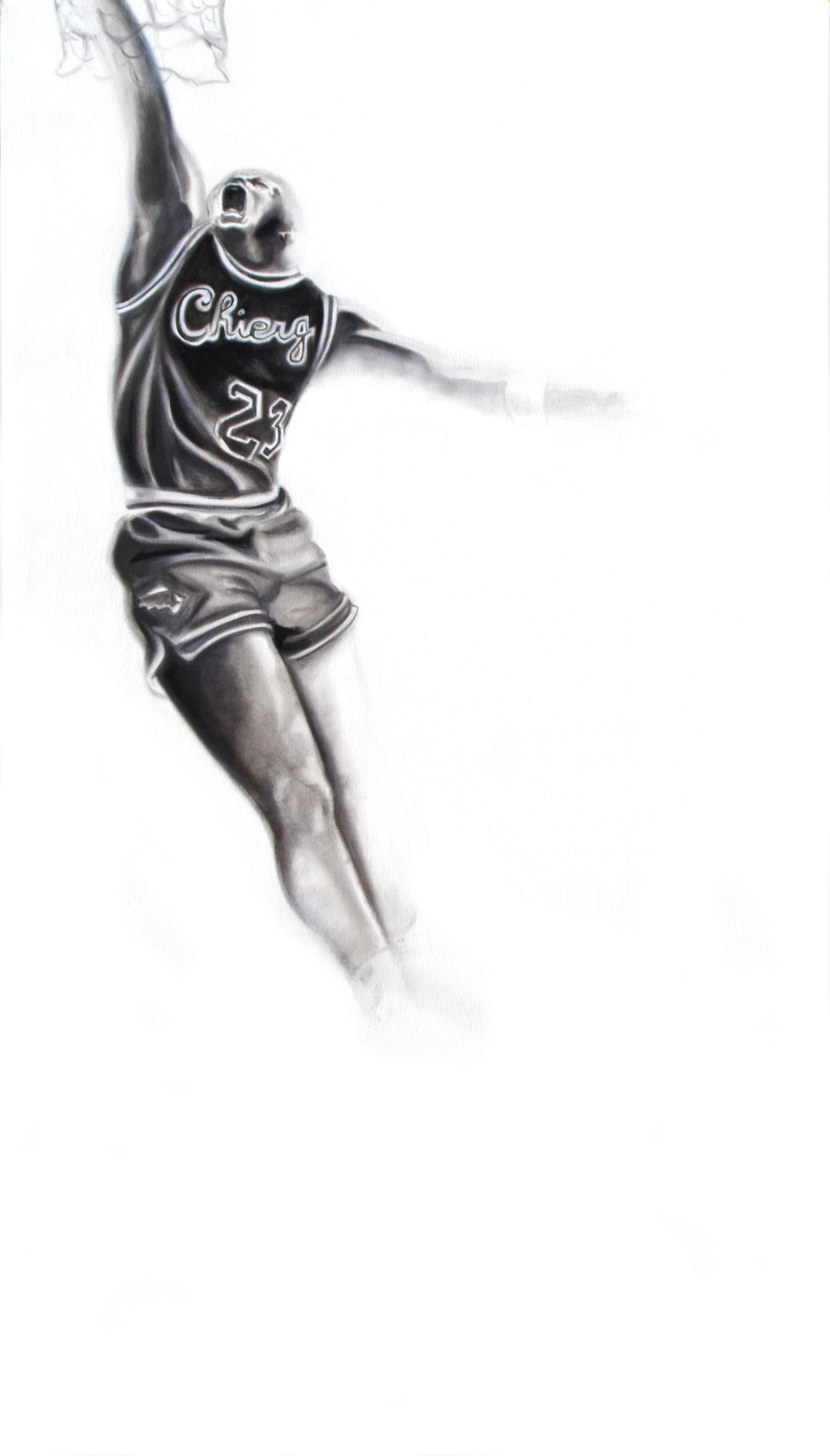 michael jordan oil on canvas